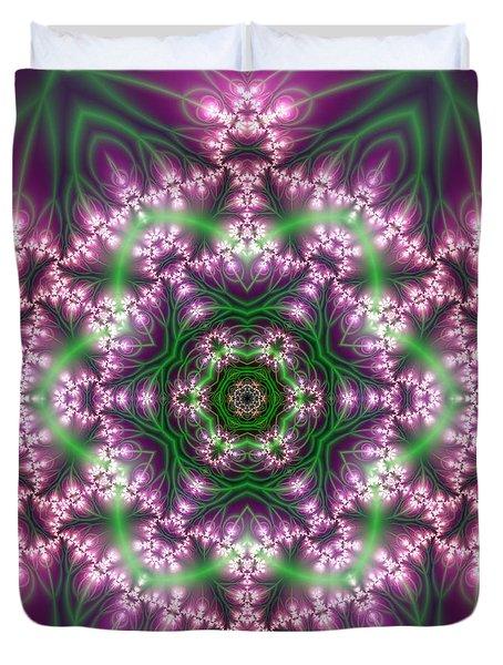 Transition Flower 6 Beats 4 Duvet Cover by Robert Thalmeier