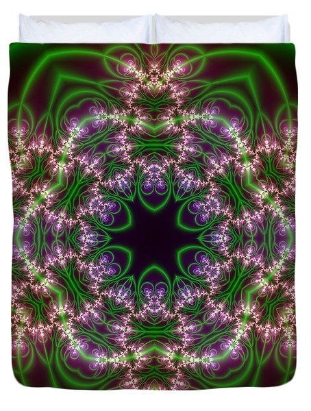 Transition Flower 6 Beats Duvet Cover by Robert Thalmeier