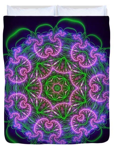 Transition Flower 7 Beats Duvet Cover by Robert Thalmeier