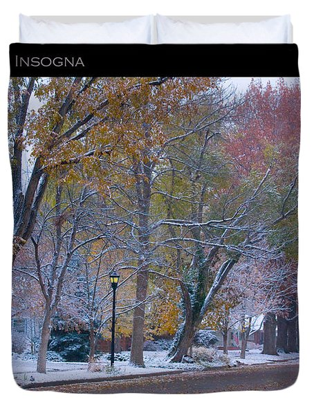 Transitions Autumn To Winter Snow Poster Duvet Cover by James BO  Insogna