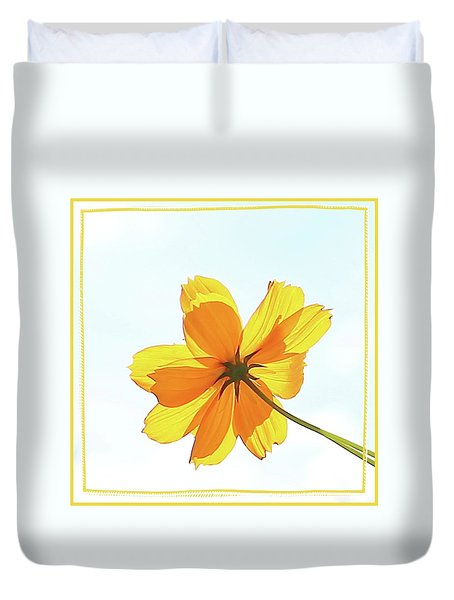 Duvet Cover featuring the photograph Translucent Flower by Ellen O'Reilly
