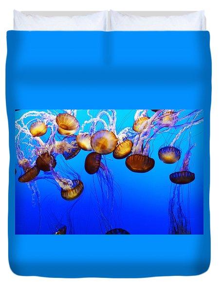 Translucent Jellyfish Duvet Cover