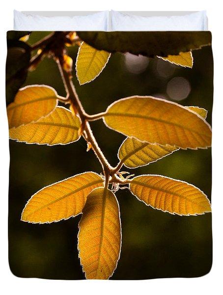 Translucent Leaves Duvet Cover