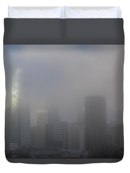 Translucent Skyline Duvet Cover by Suzanne Lorenz