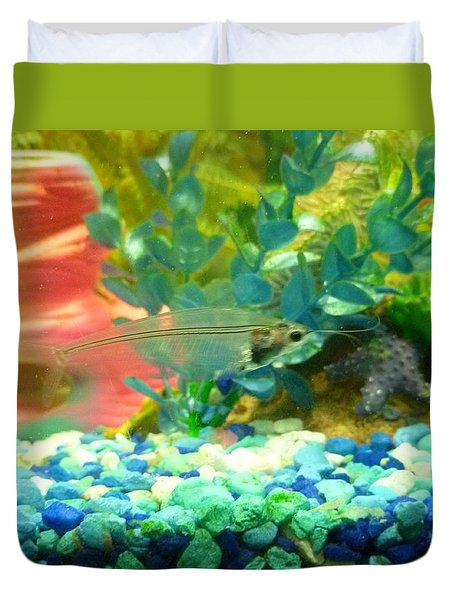 Transparent Catfish Duvet Cover