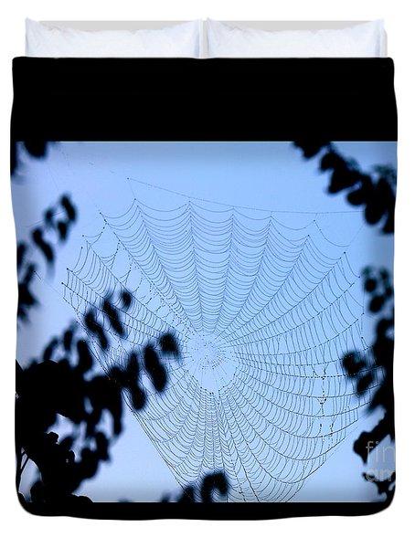 Transparent Web Duvet Cover