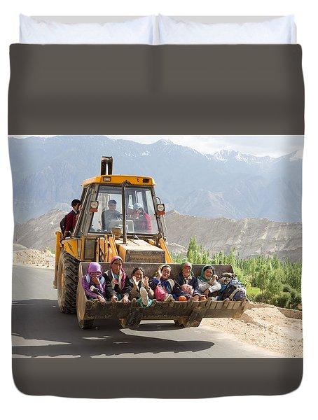 Transport In Ladakh, India Duvet Cover