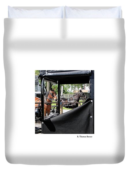 Duvet Cover featuring the photograph Transportation by R Thomas Berner