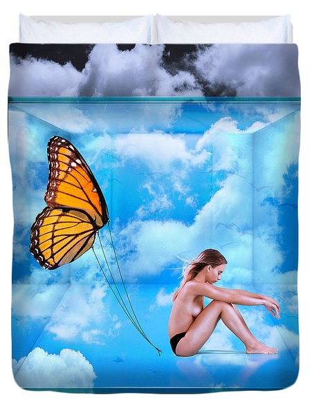 Trapped Butterfly Duvet Cover