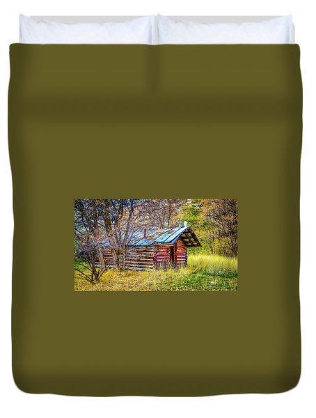 Trappers Cabin Duvet Cover