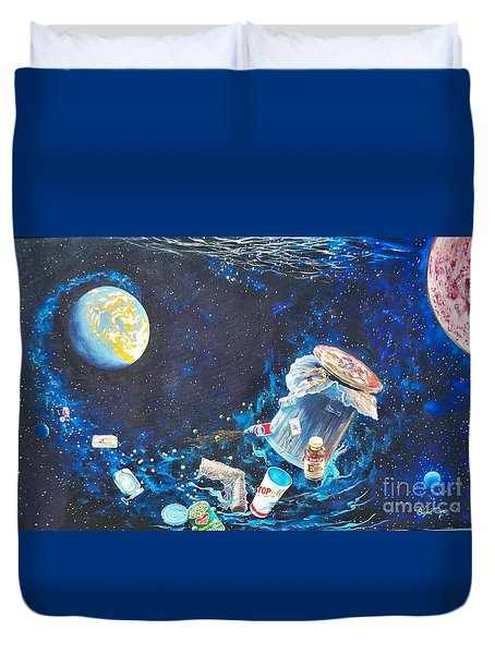 We Loved Earth At One Time - Yes We Did. Duvet Cover