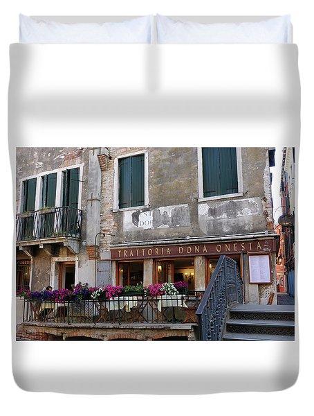 Trattoria Dona Onesta In Venice, Italy Duvet Cover