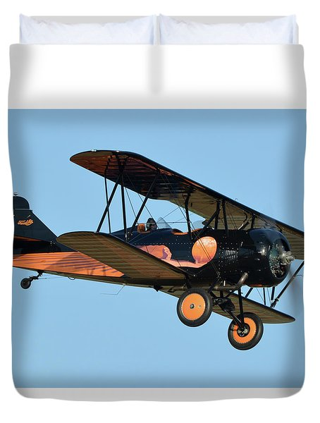 Travel Air D-4-d Nc472n Chino California April 29 2016 Duvet Cover by Brian Lockett