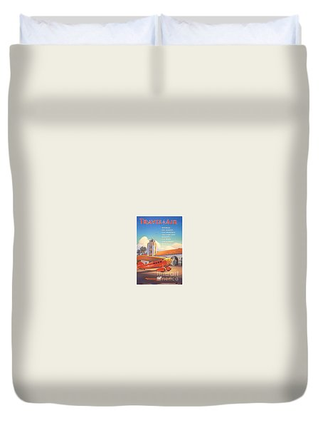 Travel By Air Duvet Cover by Nostalgic Prints