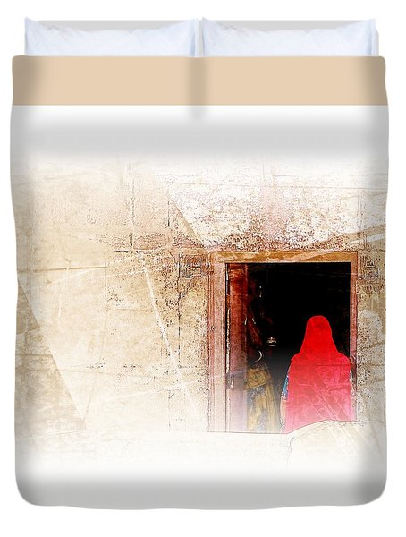 Travel Exotic Women Portrait Mehrangarh Fort India Rajasthan 1a Duvet Cover