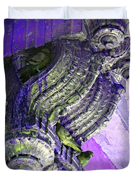 Travel Pigeons In Exotic Palaces India Rajasthan 3a Duvet Cover