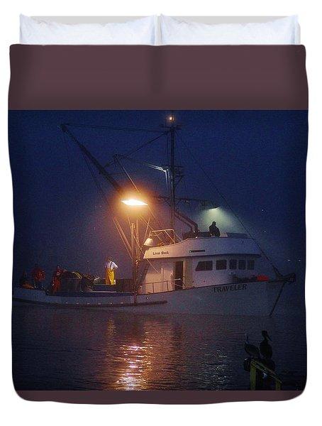 Traveler Bait Boat Duvet Cover