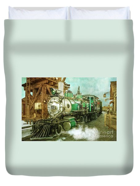Traveling By Train Duvet Cover