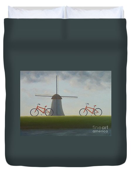 Traveling In Holland Duvet Cover