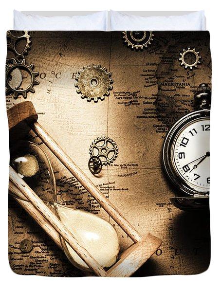 Travelling Old Worlds Duvet Cover