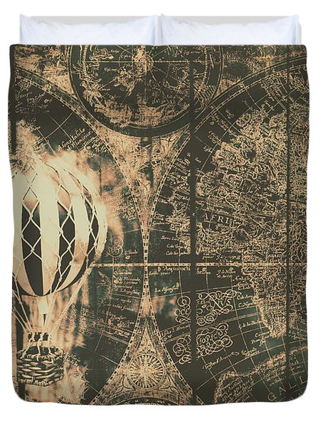 Travelling The Old World Duvet Cover