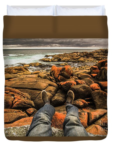 Travelling West Coast Tasmania Duvet Cover
