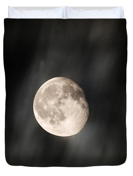 Travelling With Moon Duvet Cover