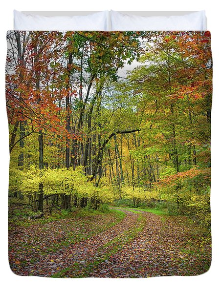 Travels Through Autumn Duvet Cover