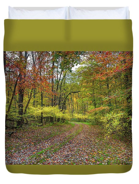 Travels Through Autumn Duvet Cover