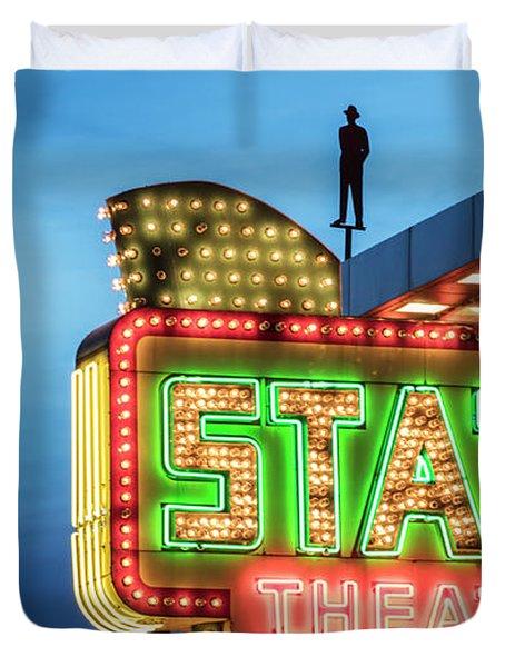 Traverse City State Theatre Duvet Cover