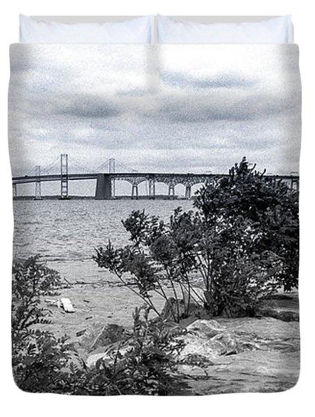 Traversing The Chesapeake Duvet Cover