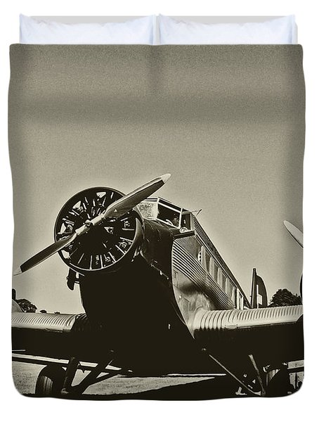 Travelling Through Time Duvet Cover