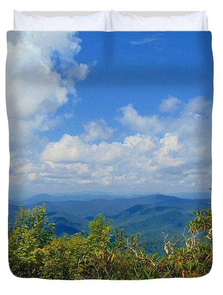 Tray Mountain Summit - South Duvet Cover