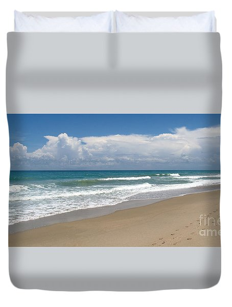 Treasure Coast Beach Florida Seascape C4 Duvet Cover by Ricardos Creations
