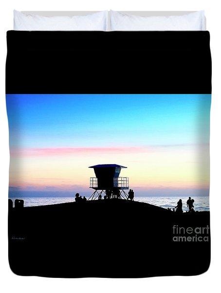 Treasure Coast Florida Sunrise Seascape Paradise 447c Duvet Cover