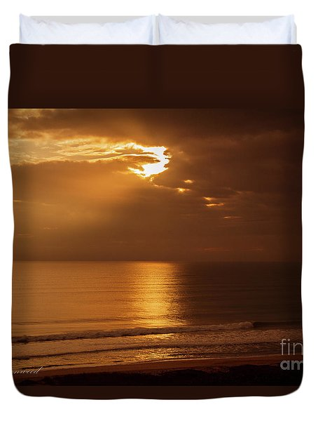 Treasure  Coast Sunrise Duvet Cover