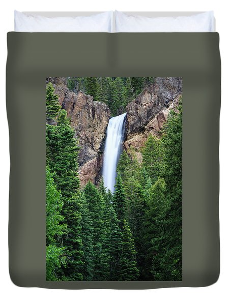 Duvet Cover featuring the photograph Treasure Falls by David Chandler