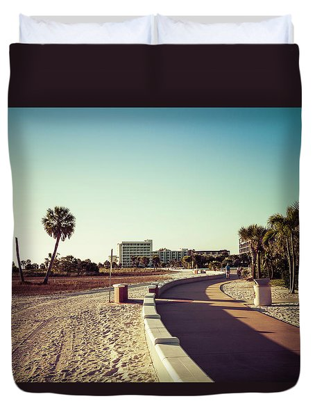 Duvet Cover featuring the photograph Treasure Island Beach Trail by Joel Witmeyer