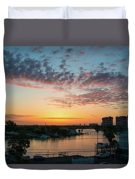 Treasure Island Sunrise Duvet Cover