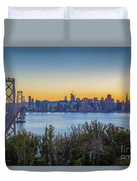 Treasure Island Sunset Duvet Cover by JR Photography