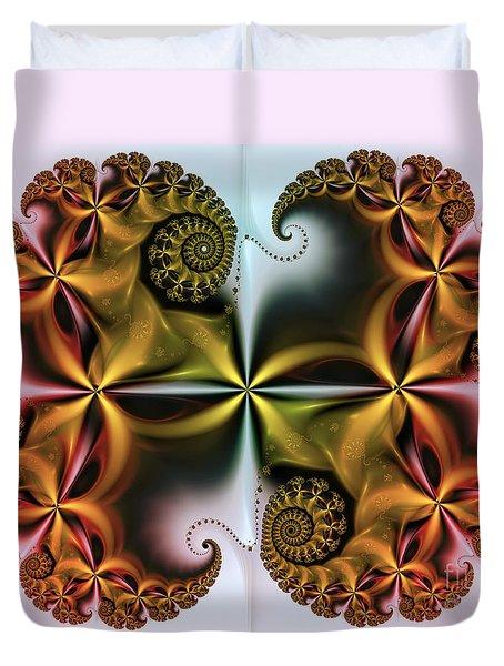 Duvet Cover featuring the digital art Treasure by Karin Kuhlmann