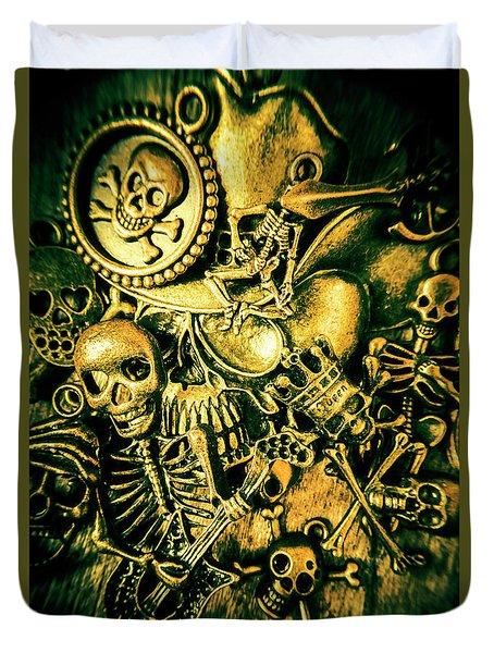 Treasures From Skull Island Duvet Cover