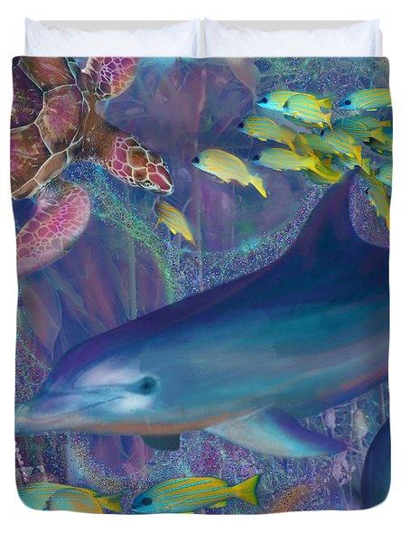 Treasures Of The Caribbean Duvet Cover