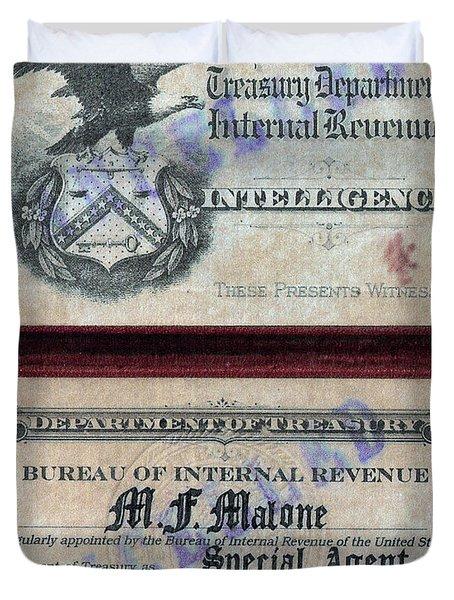 Treasury Agent Id Duvet Cover