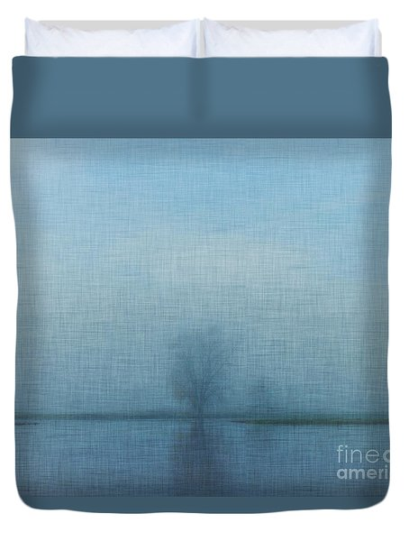 Tree Among Waters Duvet Cover by Inspired Arts