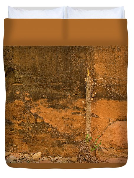 Tree And Sandstone Duvet Cover