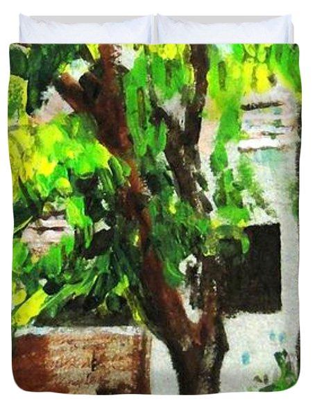 Tree And Shade Duvet Cover by Usha Shantharam