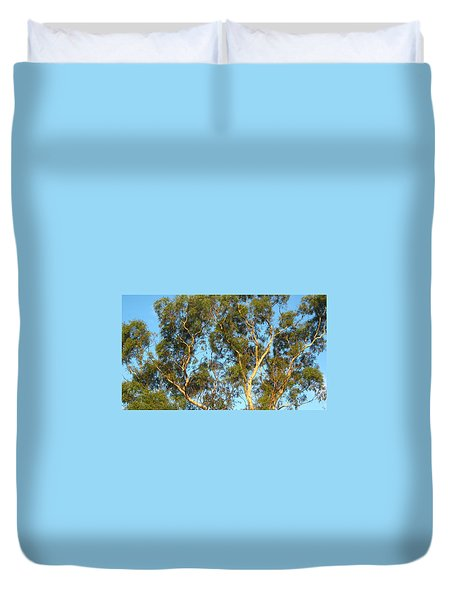 Tree And Sky Duvet Cover