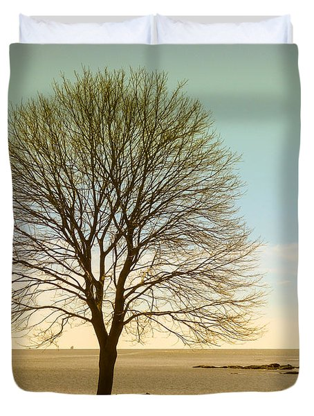 Tree At New Castle Common Duvet Cover