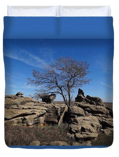 Tree At Stirling Rock Duvet Cover